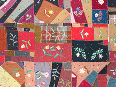 Detail from Crazy Quilt