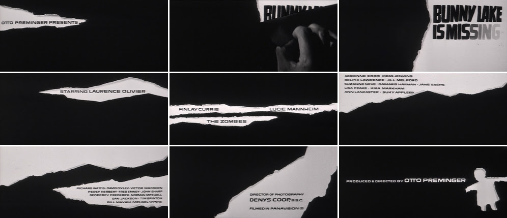 Saul Bass Bunny Lake is missing 1965 title sequence