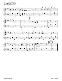 赤鼻のトナカイ無料の楽譜五線譜両手略譜をダウンロード