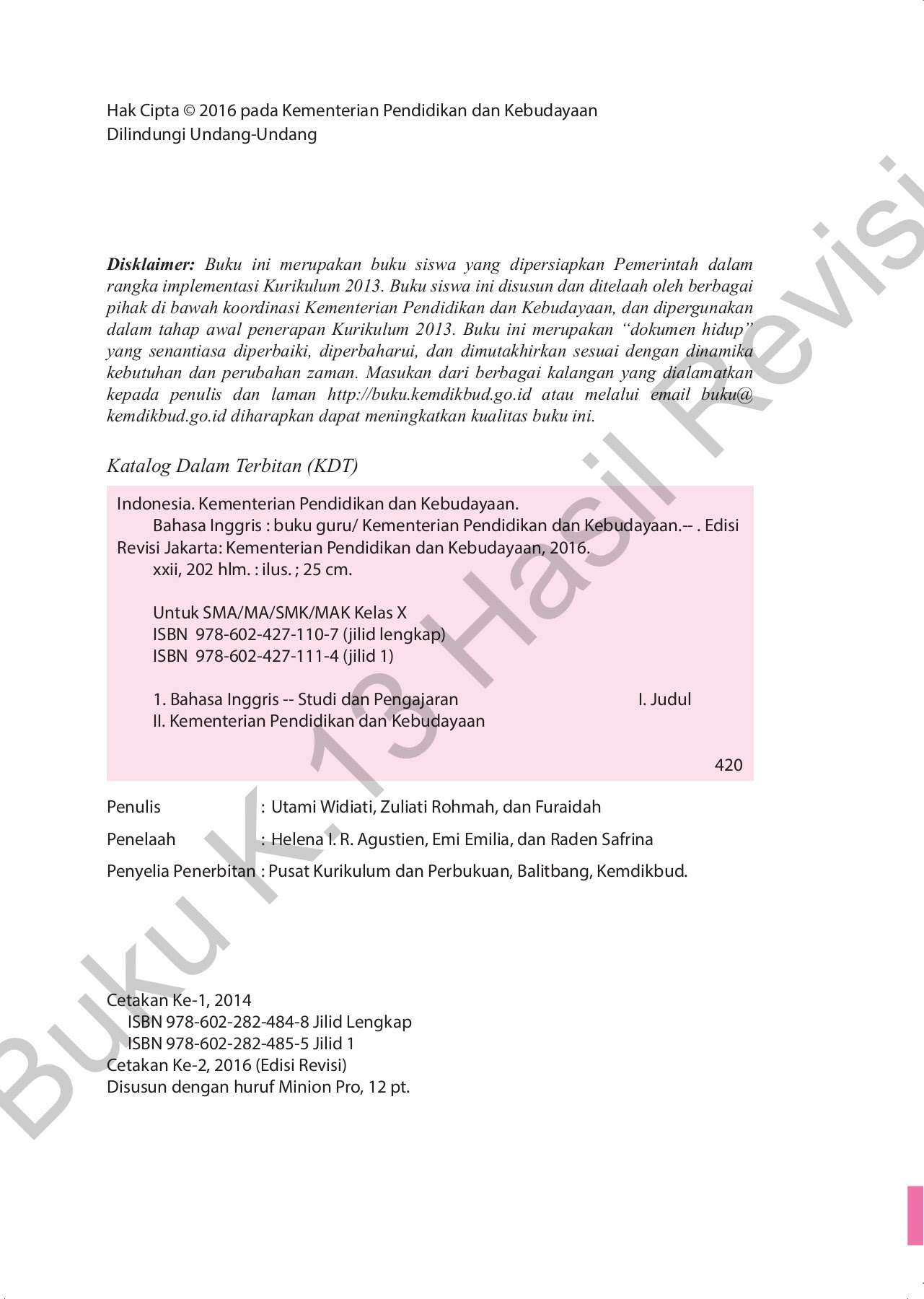 Bahasa Inggris Buku Guru10 melihat Pages 101 150 Text Version
