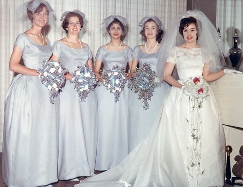 Mom and her bridesmaids, in color