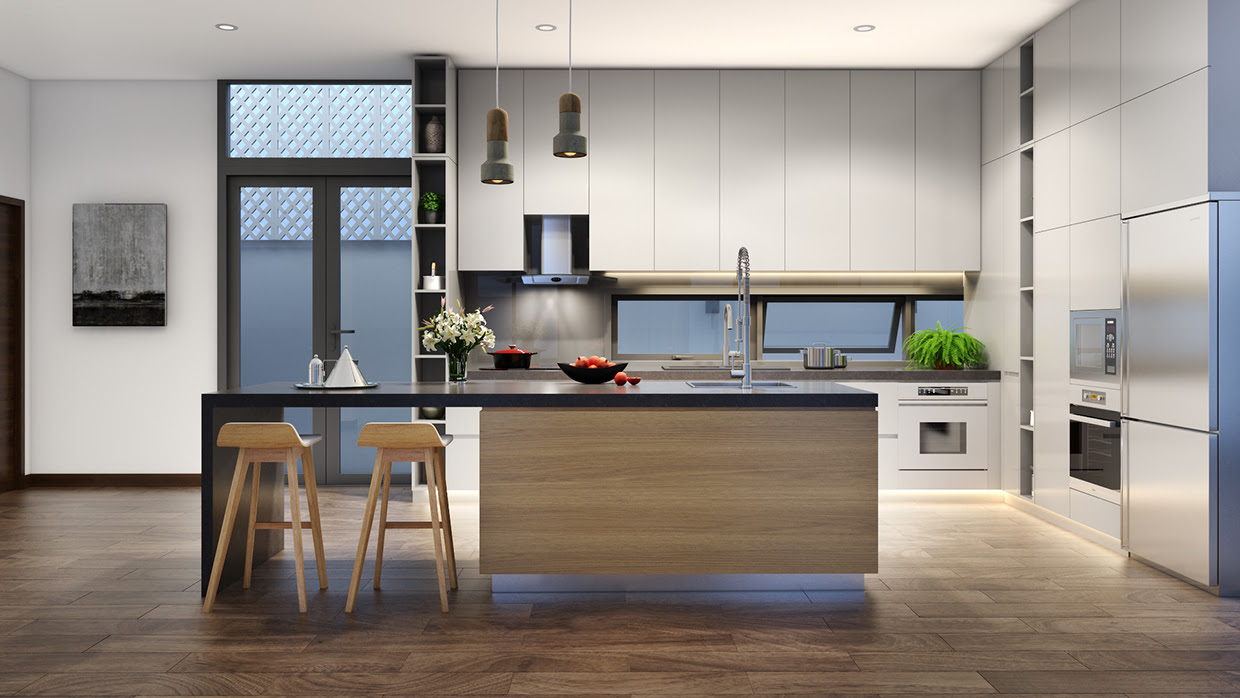 Minimalist Kitchen Designs Decorated With a Wooden Accent ...