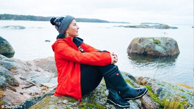 Change of plans: Ms Roth had originally planned her SuperShe Island retreat in Turks and Caicos, but when she fell in love with a Finnish man, she also fell in love with Finland