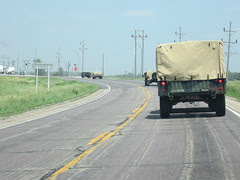 4 Military Vehicles Ahead of Us