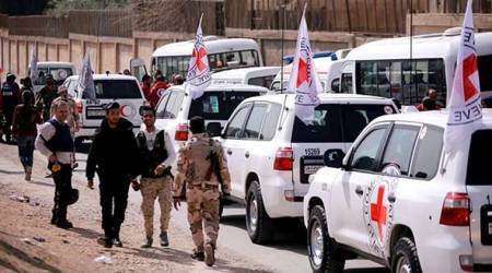First aid convoy reaches Syria's Ghouta, stripped of medicalsupplies
