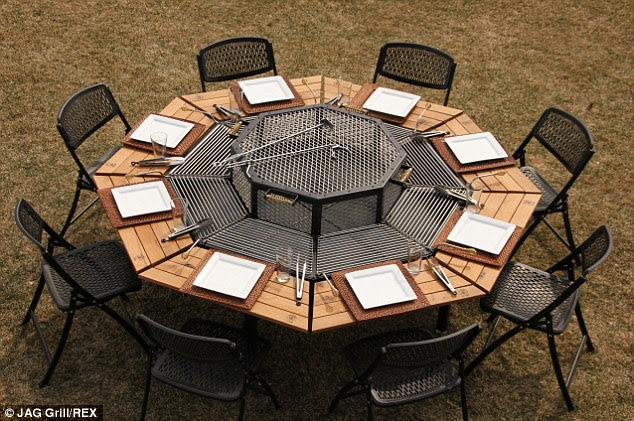 Al fresco eating: Guests invited to a barbecue might be surprised when they're expected to do their own cooking