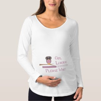 Baby Girl Loading Manche Longue Maternity T-Shirt