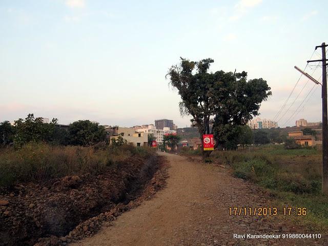Approach road of Aapla Ghar Kirkatwadi, 1 BHK & 2 BHK Flats, Pune 411024