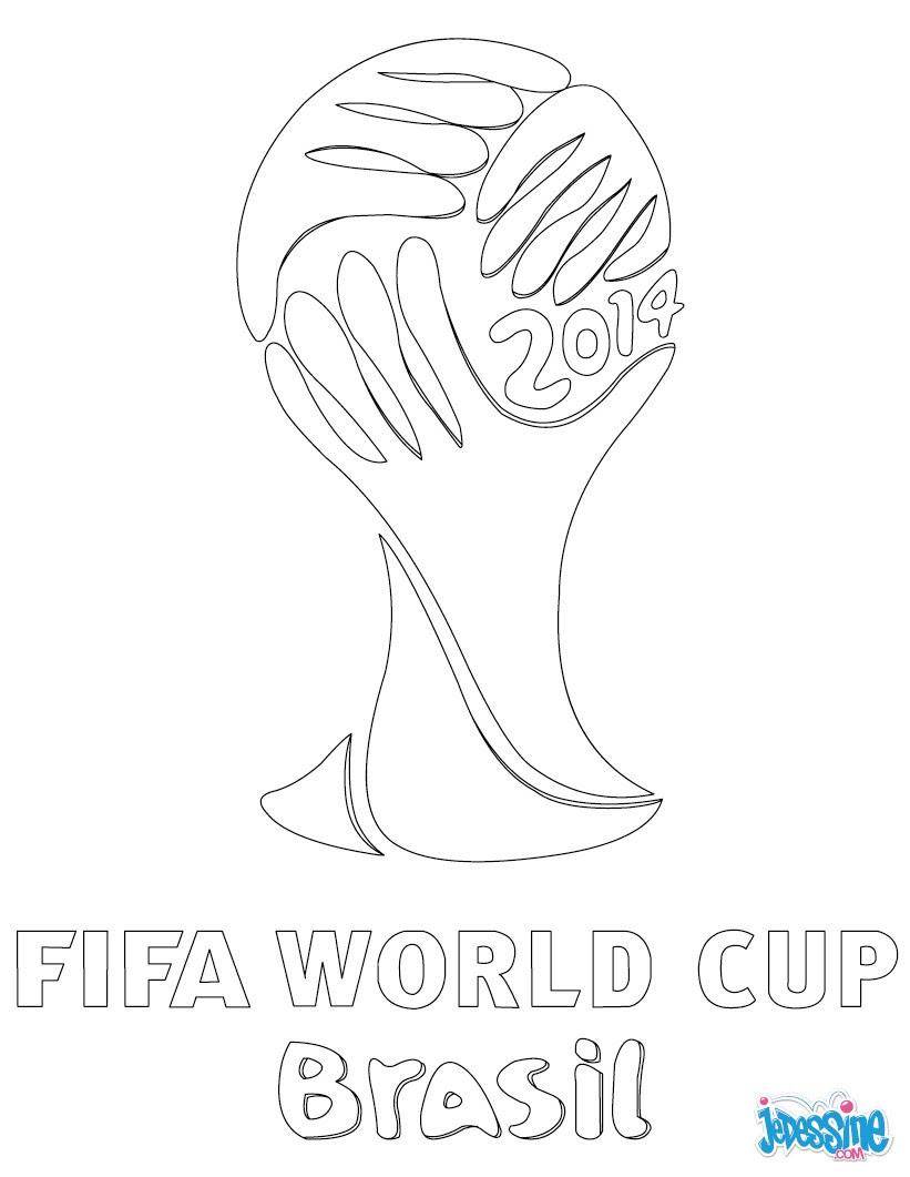 Coloriages Logo De La Coupe Du Monde 2014 Frhellokidscom