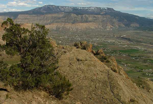 Palisade and the Grand Mesa from Mount Garfield