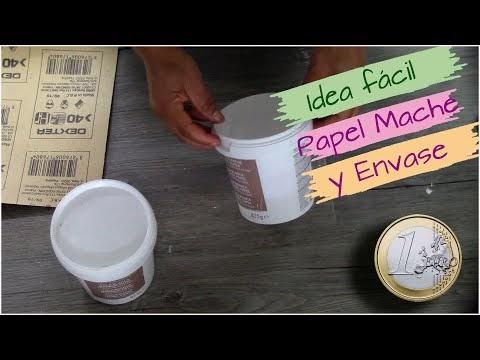 😱¡¡POR 1€!! Idea fácil de ✅(NEGOCIO) reciclando PAPEL MACHE y ENVASE PLA...