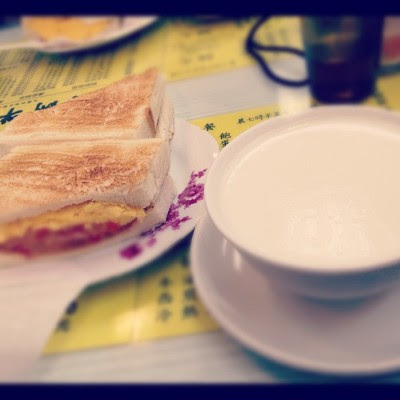 At Australia milk company for breakfast! Damn shiok the 炖奶! (Taken with instagram)