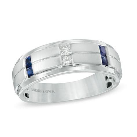Vera Wang Love Collection Men's 1/8 CT. T.W. Diamond and
