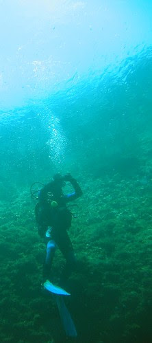 ascending in the blue hole