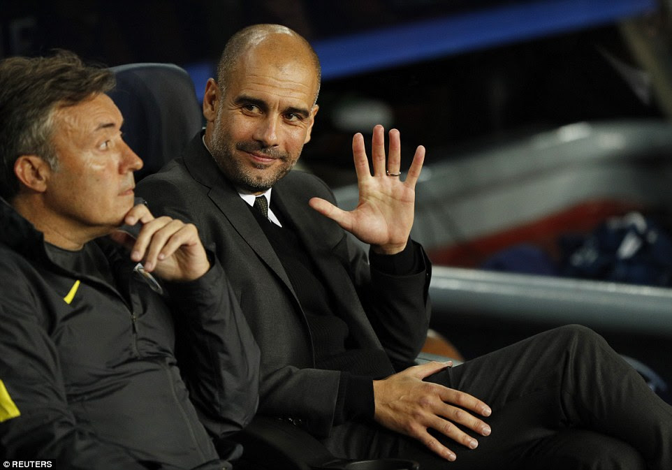 All eyes were on Guardiola pre-match as he returned to the club where he enjoyed success as a player and manager
