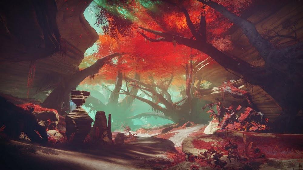 Destiny 2 clip reveals the serene planet Nessus screenshot