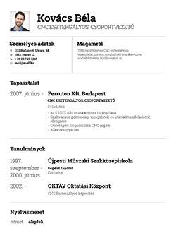 Online társkereső profil sablonok