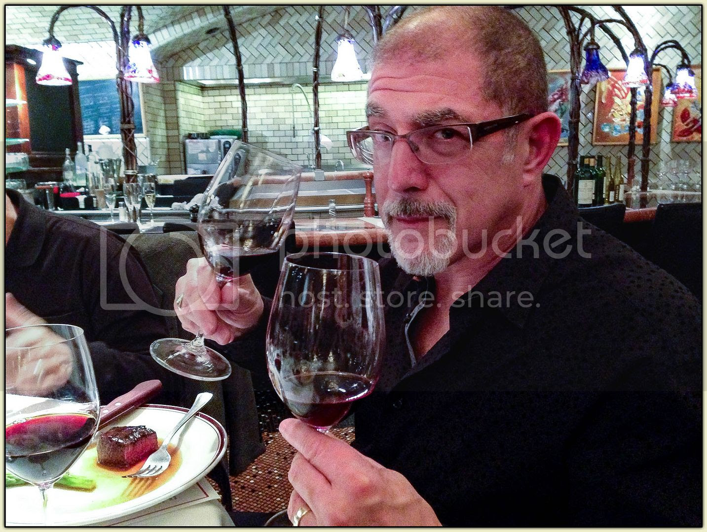 Two-Fisted Wine Drinker