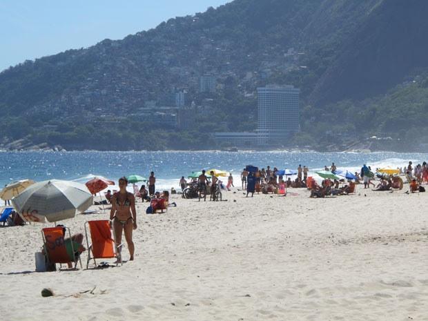 Rio teve dia de calor na véspera do feriado de Consciência Negra (Foto: Marcelo Elizardo/ G1)
