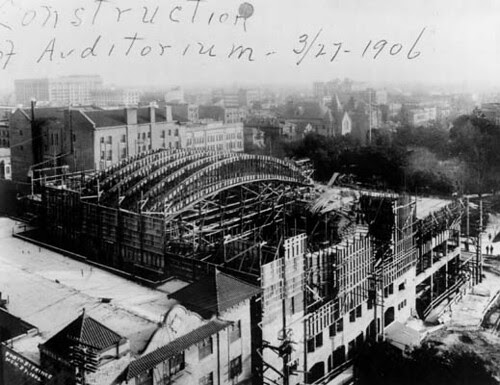 Philharmonic Auditorium - Construction