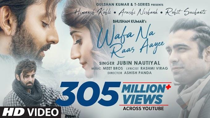 Wafa Na Raas Aayee Lyrics-Jubin Nautiyal