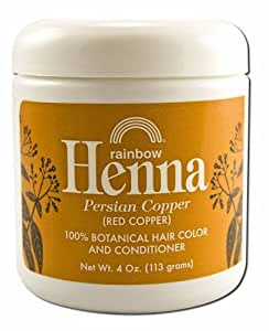 Amazon.com: Rainbow Research Henna Hair Color and Conditioner Persian Copper Red Copper  4 oz