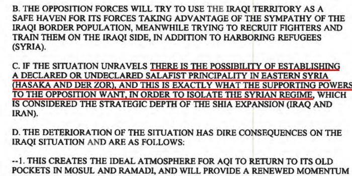 Il documento desecretato a maggio della DIA che vi spiega tutto quello che dovete sapere sulla guerra in Siria
