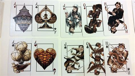 Steampunk Playing Cards   Bicycle   USPC Standard Edition