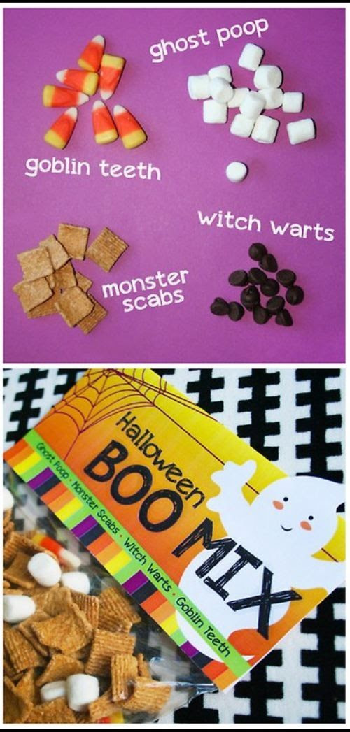 good idea for halloween party snack..lol, luv it! (Ghost poop, haahhaaa)
