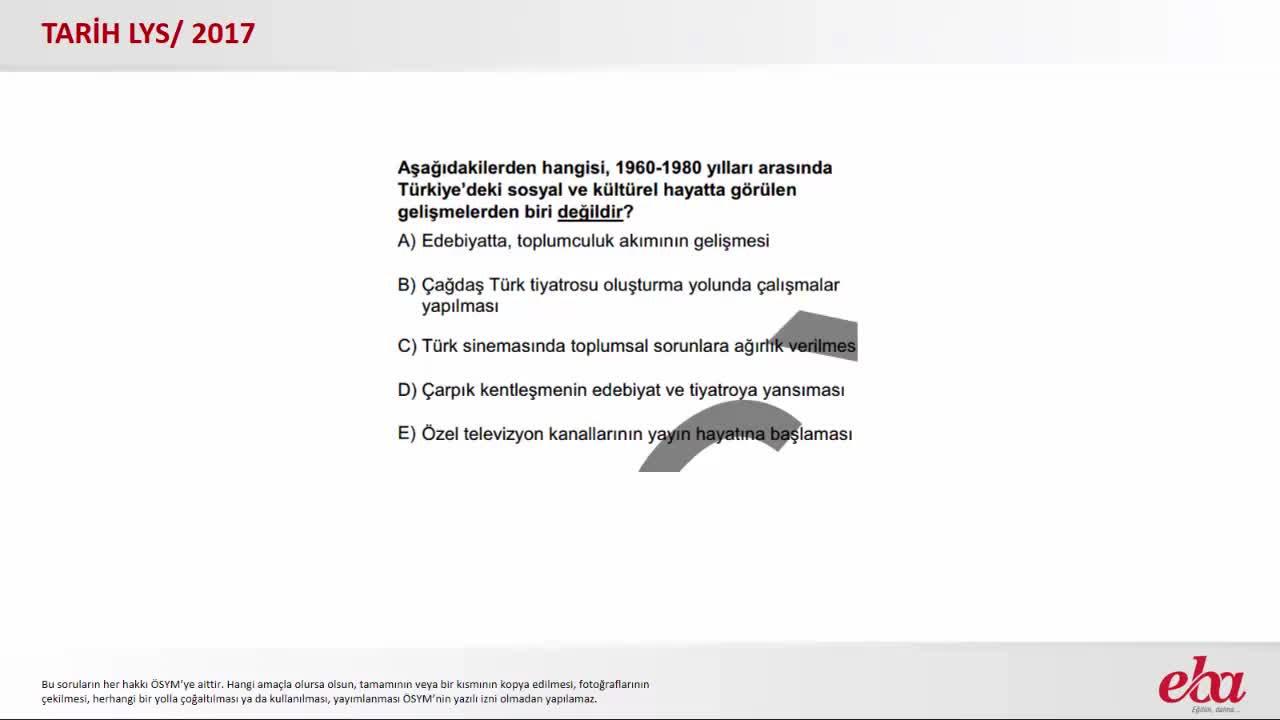 1960 1980 Yılları Arasın Türkiyedeki Gelişmeler 2017 Lys Tarih