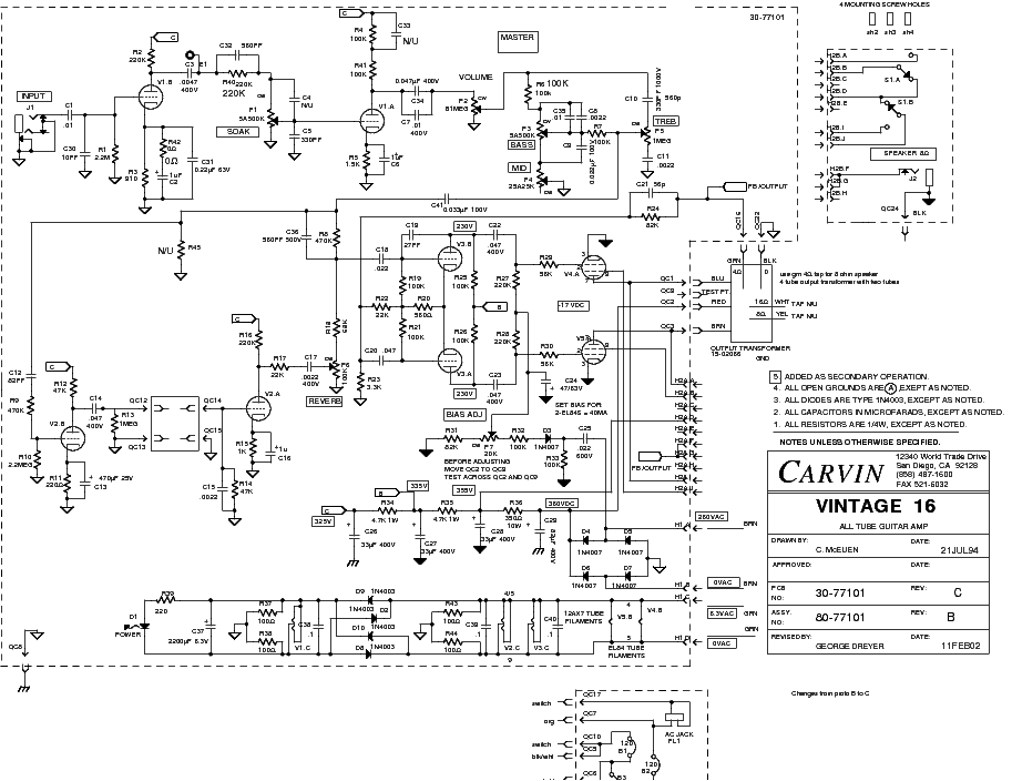 carvin x100b schematic image 3