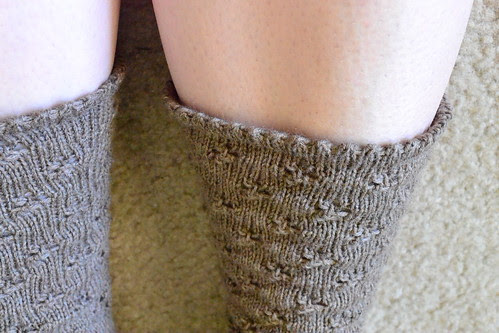 closeup eyelet sock