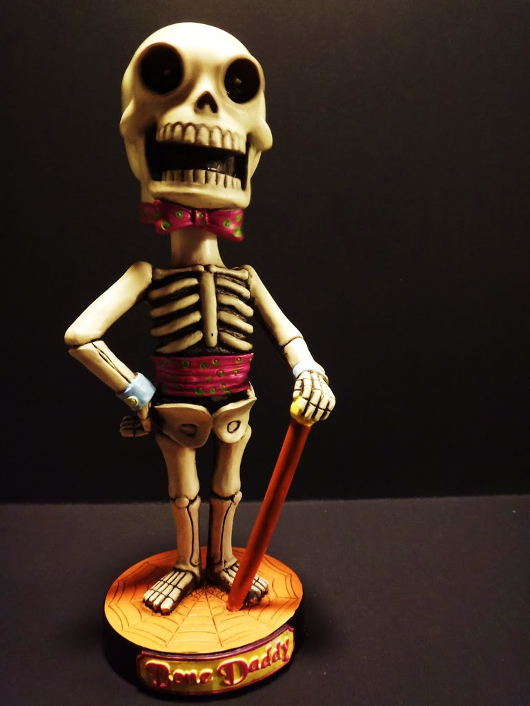 classic favorites halloween skeleton bone daddy bobblehead