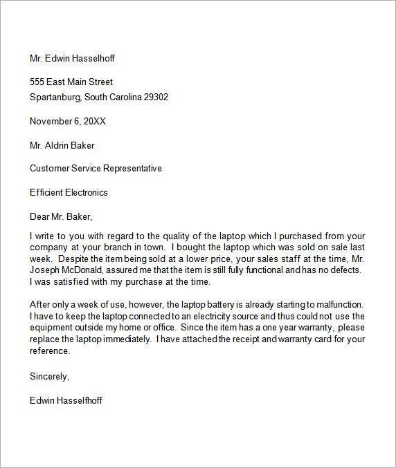 54 Letter Complaint Restaurant Service Complaint Service Restaurant