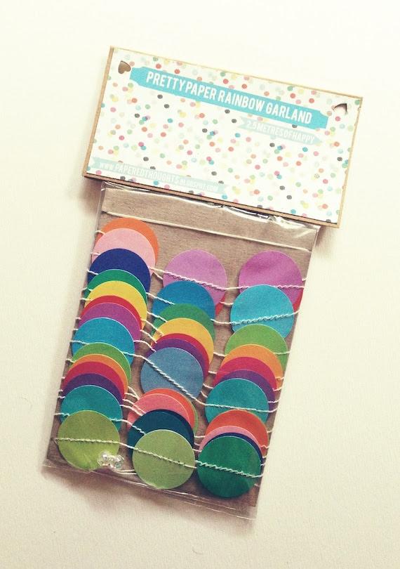 Rainbow Confetti Garland -- 2.5m --