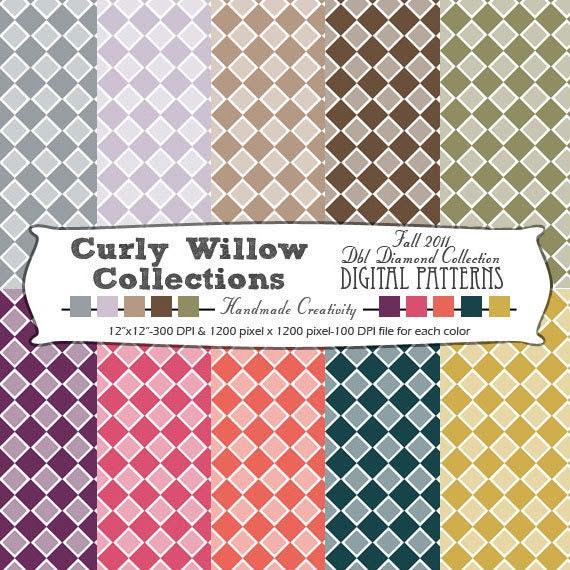 Digital Patterns, Digital Paper, Scrapbooking Paper, Printables, Paper Patterns, Crafts, Diamond