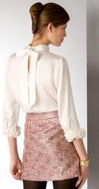 Kate Spade Bisous Ruffle Silk Blouse - Back