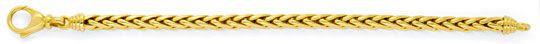Foto 1, Handarbeit-Zopf-Goldarmband Gelbgold 14K/585 Luxus! Neu, K2926