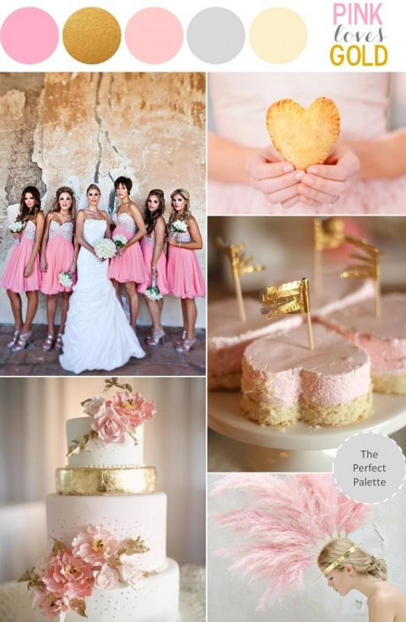 Pink And Gold Wedding Theme ♥ Sparkly Pink Wedding Ideas ...