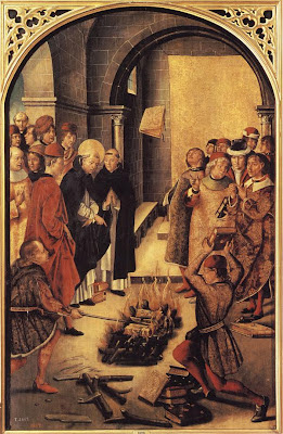 São Domingos queima livro pestilenciais, Glória da Idade Média