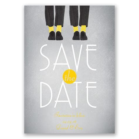 Dancing Shoes Mr and Mr Save the Date Card   Invitations