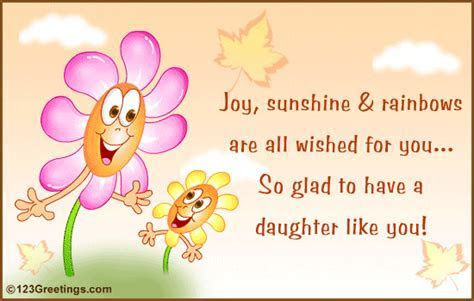 A Daughter Like You  Free Son & Daughter eCards
