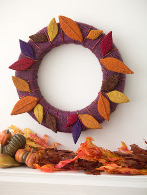 Leaves Of Yarn Wreath (Crafts)