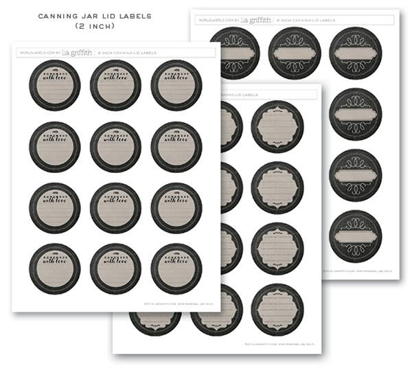 Chalkboard Canning & Freezer Labels by Lia Griffith | Worldlabel Blog