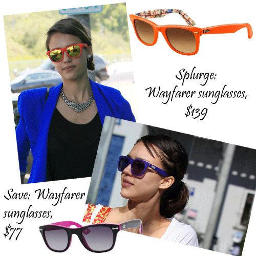 Jessica Alba Style - The Wayfarer Sunglasses