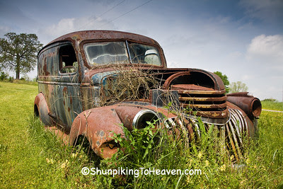 Rusty Old Car, Cleveland County, North Carolina