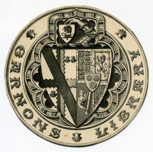 Garnons Library - Cotterell impaling Gordon-Lennnox