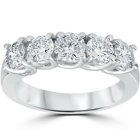1 1/2ct Real Diamond Wedding Anniversary Band Womens 14k