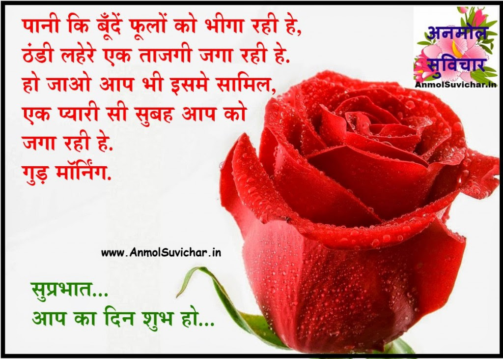 Good Morning Wishes In Hindi Anmol Suvichar Hindi Quotes