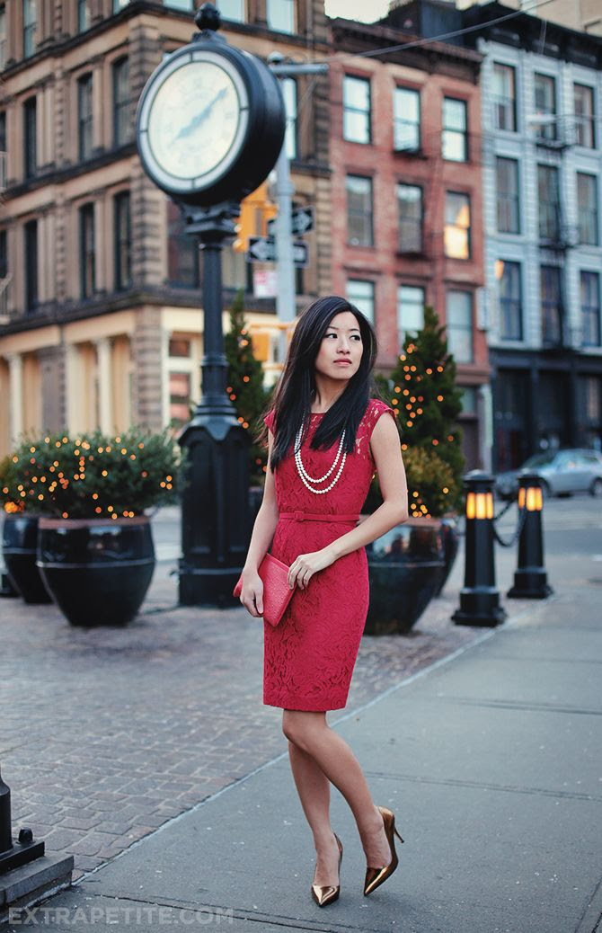 The little red dress | Professional Style @ Levo (via Extra Petite Blog)